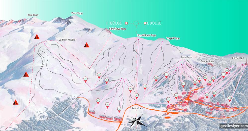 Uludağ Kayak Merkezi Pistleri