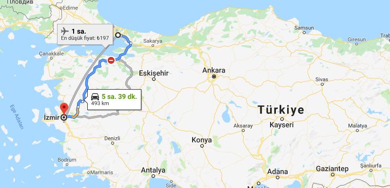 İzmir'e nasıl gidilir