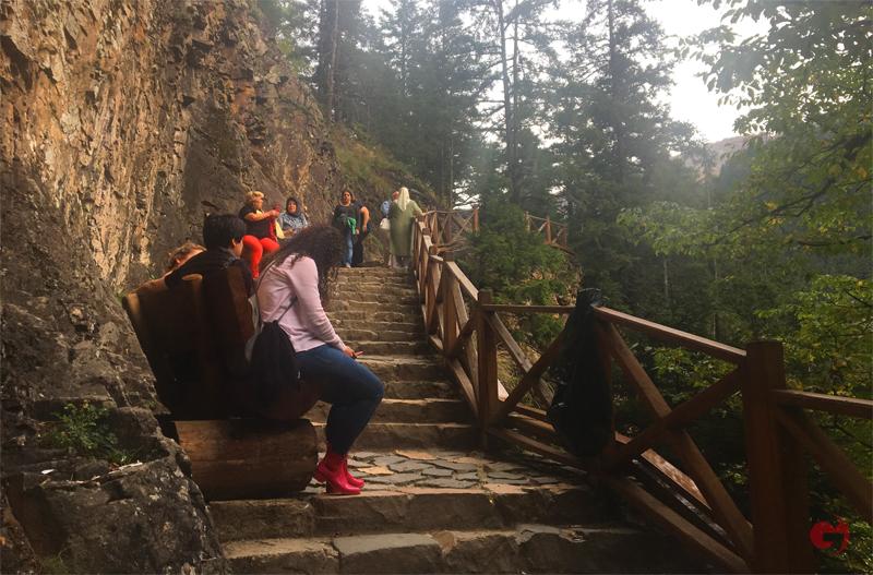 Sümela Manastırı, Tırmanış